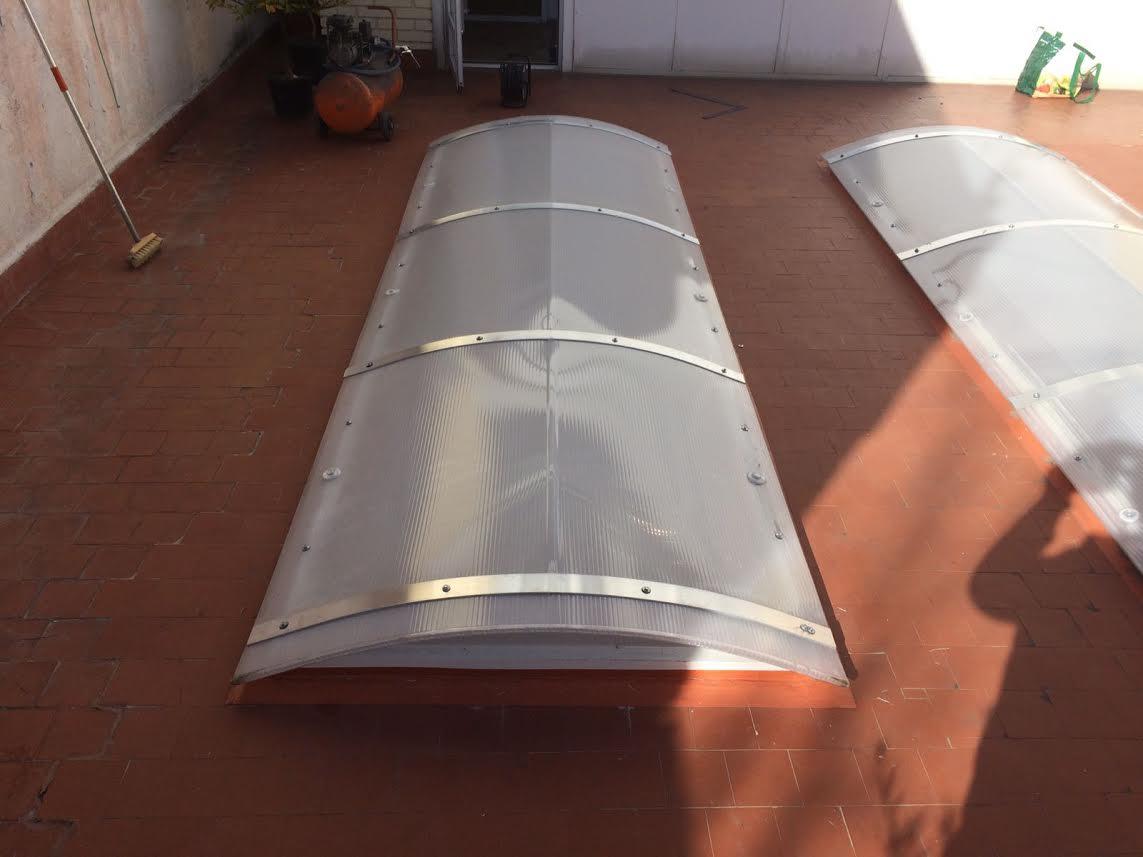 Cubierta piscinas f bricant techo m vil cosmoval 644 34 - Lucernarios y claraboyas ...