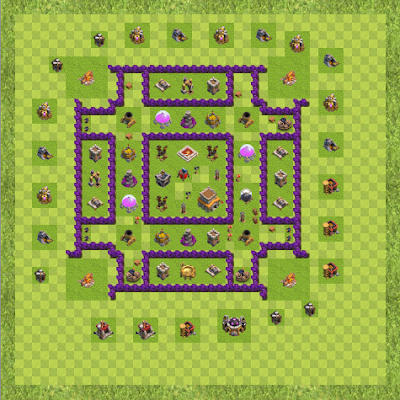 War Base Town Hall Level 8 By gtr545613 (Boss TH 8 Layout)