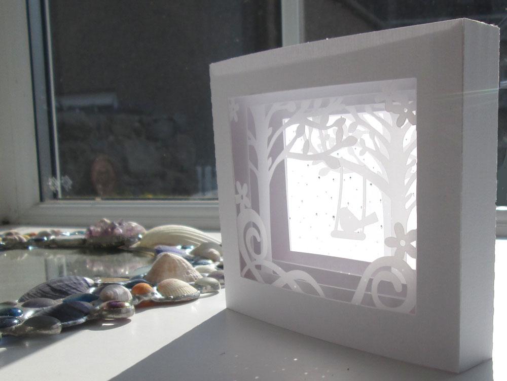 Silhouette Uk Bluebird Shadow Box Card Using Vellum
