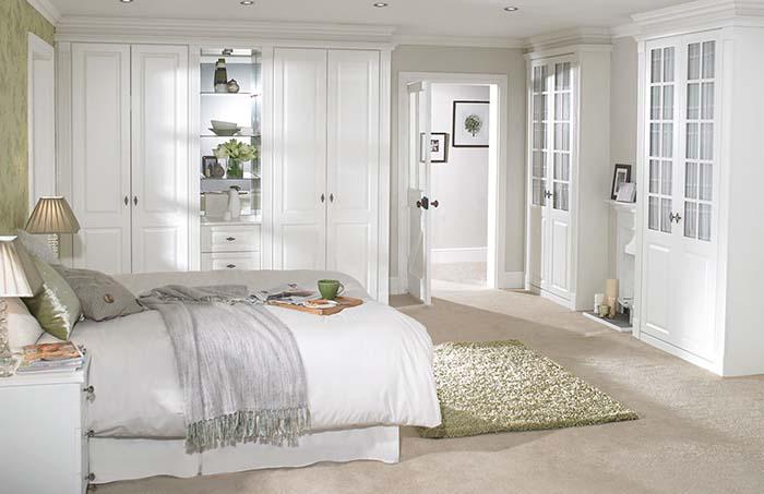 beyaz yatak odası dolapları