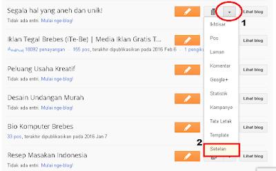 Cara mengubah judul blog di blogger (Khusus Pemula)