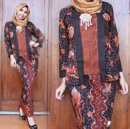 53 Model Baju Pesta Batik Couple Trend Terbaru