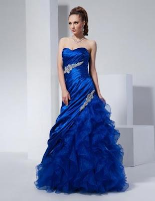 fotos de Vestidos de 15 Años Azules