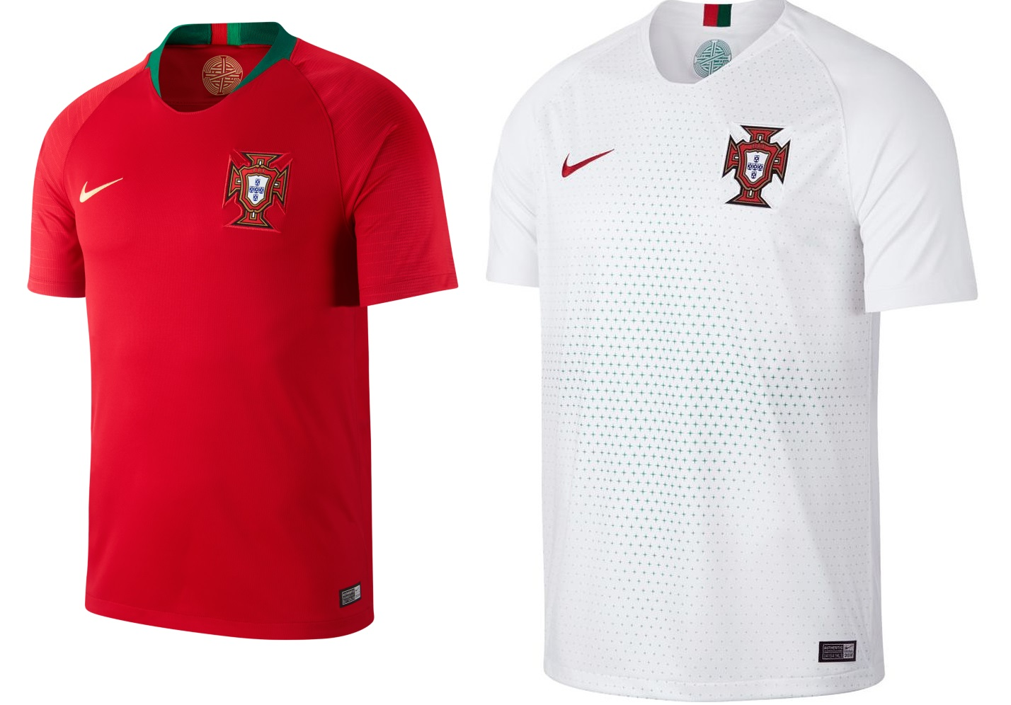 038fe44560c Euro 2016 champions, Portugal get very understated kits from Nike. Home  shirt comes in traditional red colour with gree application while the away  kit is ...