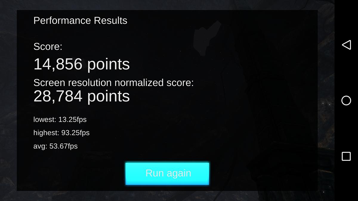 gpu bench test result