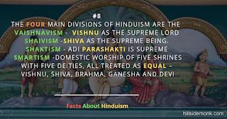 Fact About Hinduism 8 VAISNAVISM , SHAVISM , SHAKTISM , SMARTISM