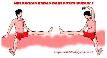 Meliukkan badan dari posisi duduk 2