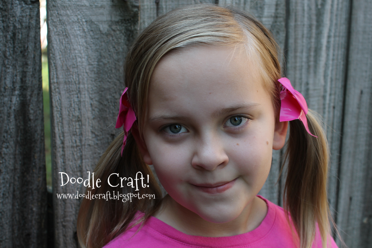 Duct Tape Hair Bows And Bracelets