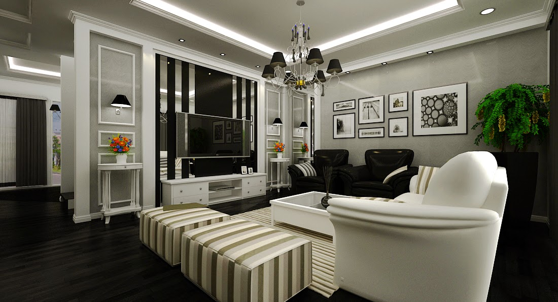 Living Room Modern Victorian Interior Design