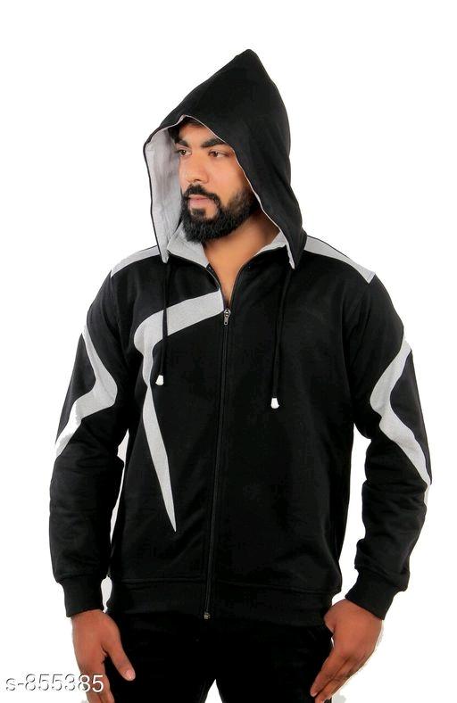 Attractive Cotton Solid Hooded Sweatshirt