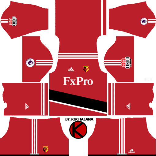 Watford F.C. Kits 2017/2018 - Dream League Soccer