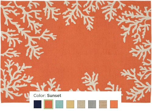 Coastal Coral Rug in Different Colors