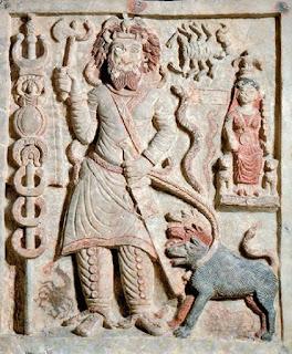 Нергал подземен бог релеф от Хатра Ирак датиран към II в. сл. Хр.