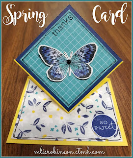 Blog With Friends, a multi-blogger project based post incorporating a theme, Spring Cleaning.  | Spring Card by Melissa of My Heartfelt Sentiments | Featured on www.BakingInATornado.com
