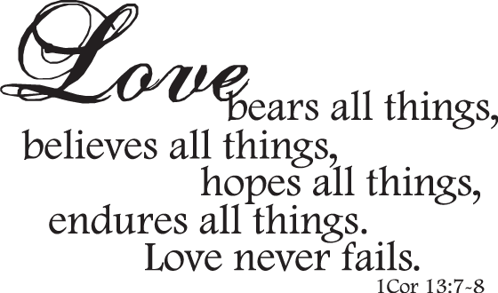 Bible verse true love never fails