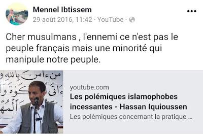 """Mennel Ibtissem admire le """"professeur"""" Frère Musulman Hassan Iquioussen"""