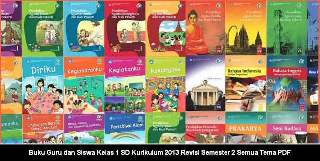 Buku Guru dan Siswa Kelas 1 SD Kurikulum 2013 Revisi Semester 2 Semua Tema PDF