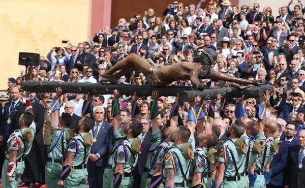 Málaga, varios miembros de la plantilla no se perdieron al Cristo de Mena