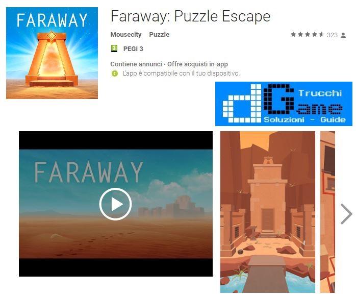 Soluzioni Faraway: Puzzle Escape