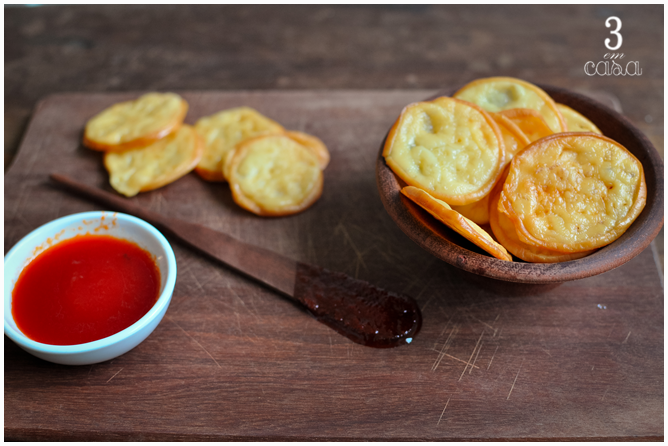 como fazer chips provolone