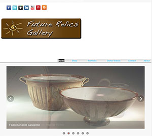 Future Relics Pottery webpage by Lori Buff