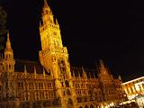 Munchen Marienplatz noaptea