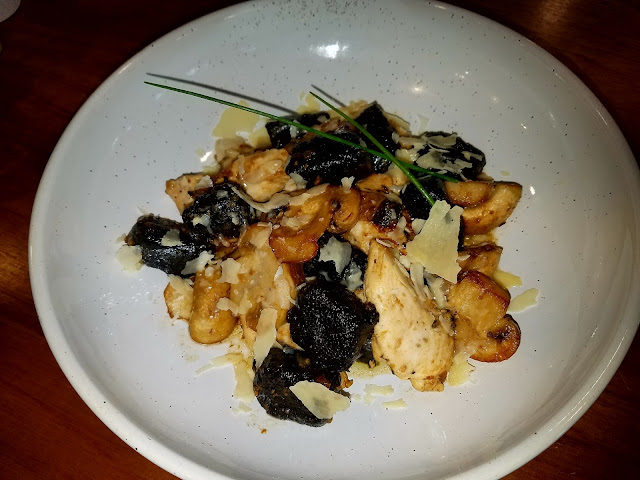 The Coventry, South Melbourne, squid ink gnocchi and chicken