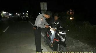 "Sejumlah Polisi Menggelar""Operasi Motor Bodong"" di Karawang Utara"