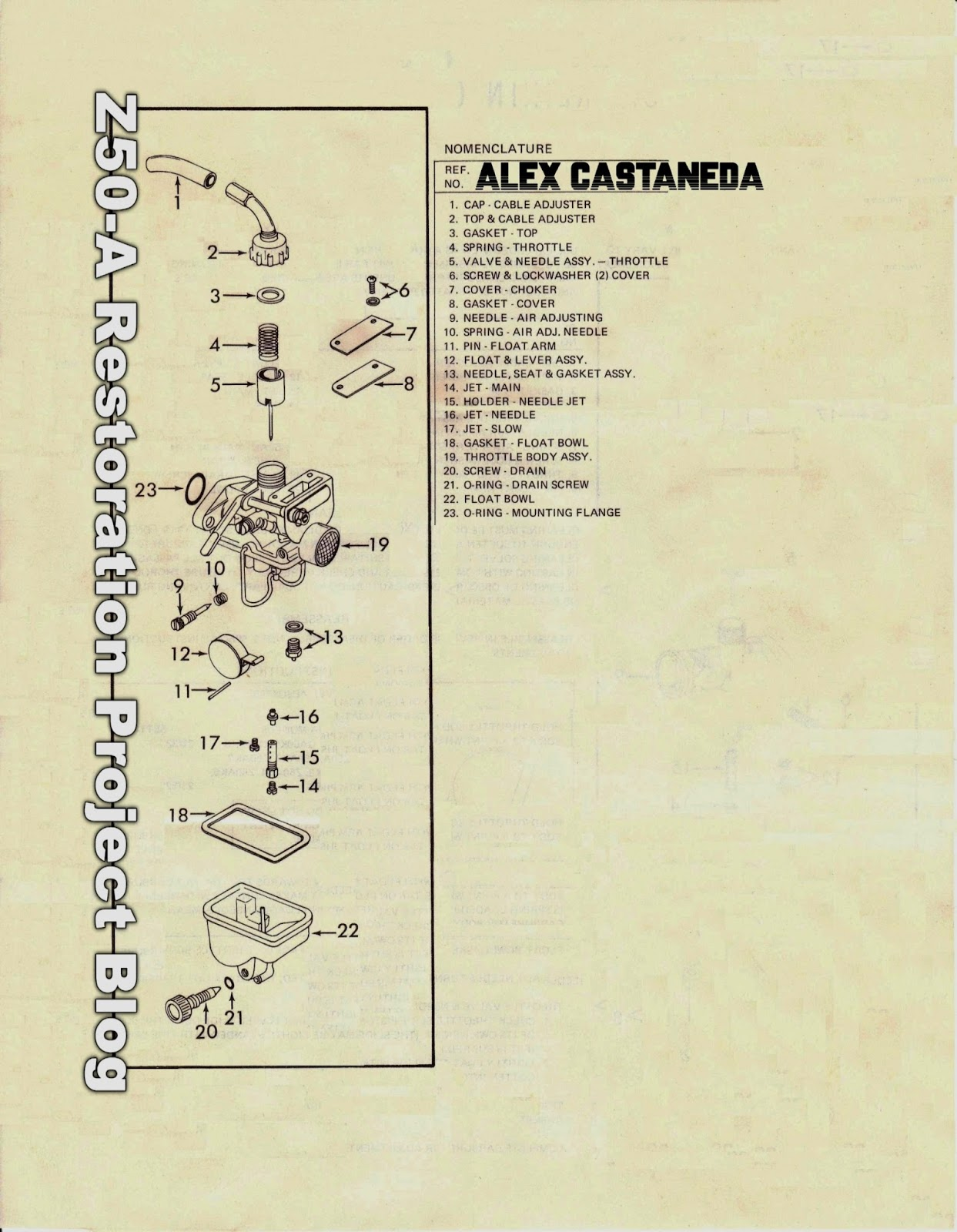 Vintage Honda Keihin Carburetor Instruction Sheet Repair Kit 1970 Ct70 The Data Above Is From Most Complete Ive Ever Come Across And Not Only