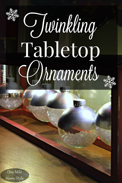 Twinkling Tabletop Ornament Display: Create and Share Challenge | One Mile Home Style