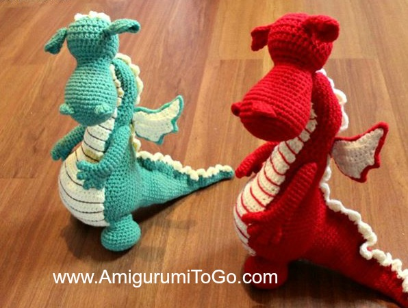 Fierce Or Sleepy Dragon Pattern Part One Amigurumi To Go