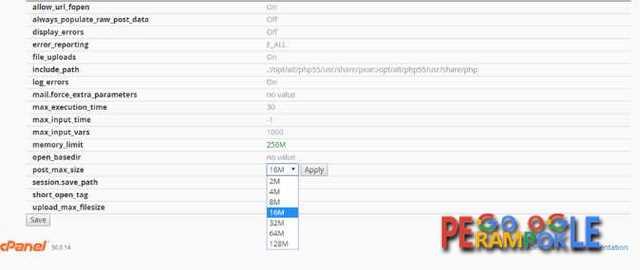 Kamu juga bisa setting ukuran file untuk bagian posting