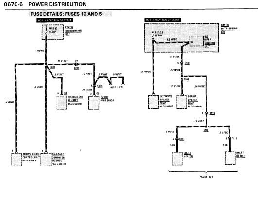 repairmanuals: BMW 635CSi 1986 Electrical Repair