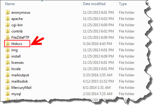 struktur folder xampp untuk instalasi wordpress