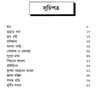Bhoutik Omnibus by Harinarayan Chattopadhyay content