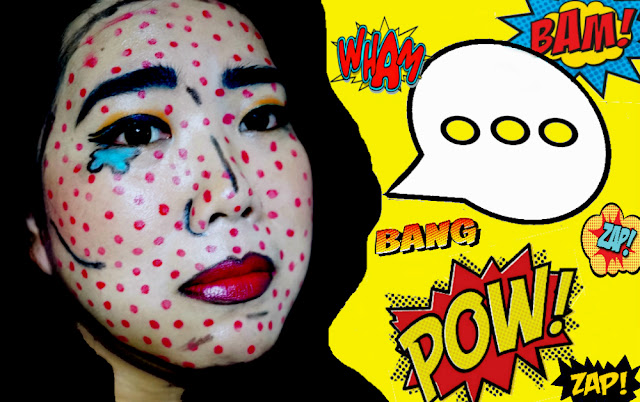 Pop Art Comic Book Makeup Look FOTD, Tutorial