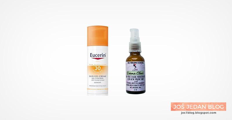 Eucerin Sun Gel-creme Oil control krema za lice, Diva prirodna kozmetika Derma Clear dnevna krema za lice, prirodna kozmetika, recenzija, utisci