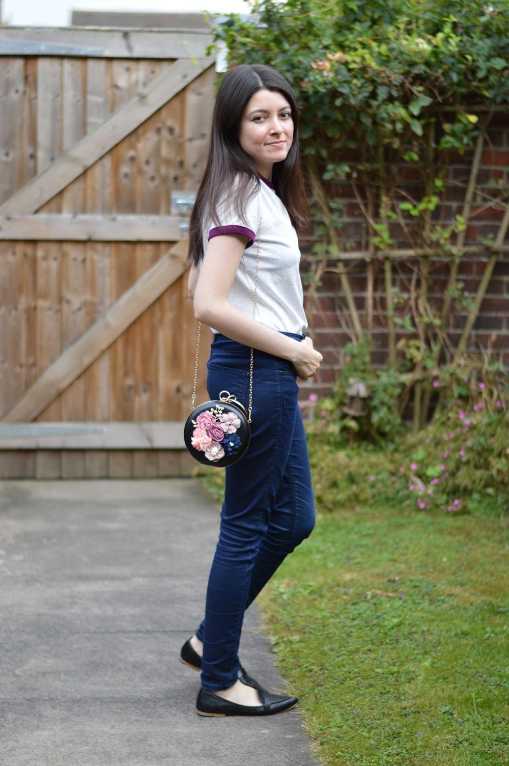 Embellished Floral Bag