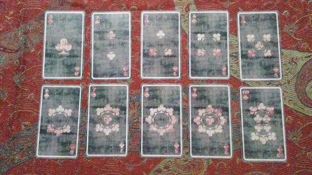 tarot cards clubs wands