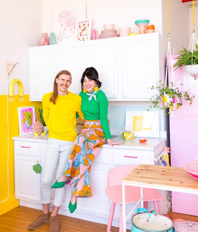 Home tour a todo color en una casa de Instagram