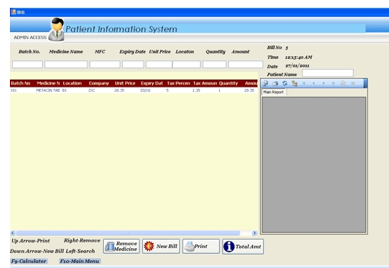 Patient Information System Application