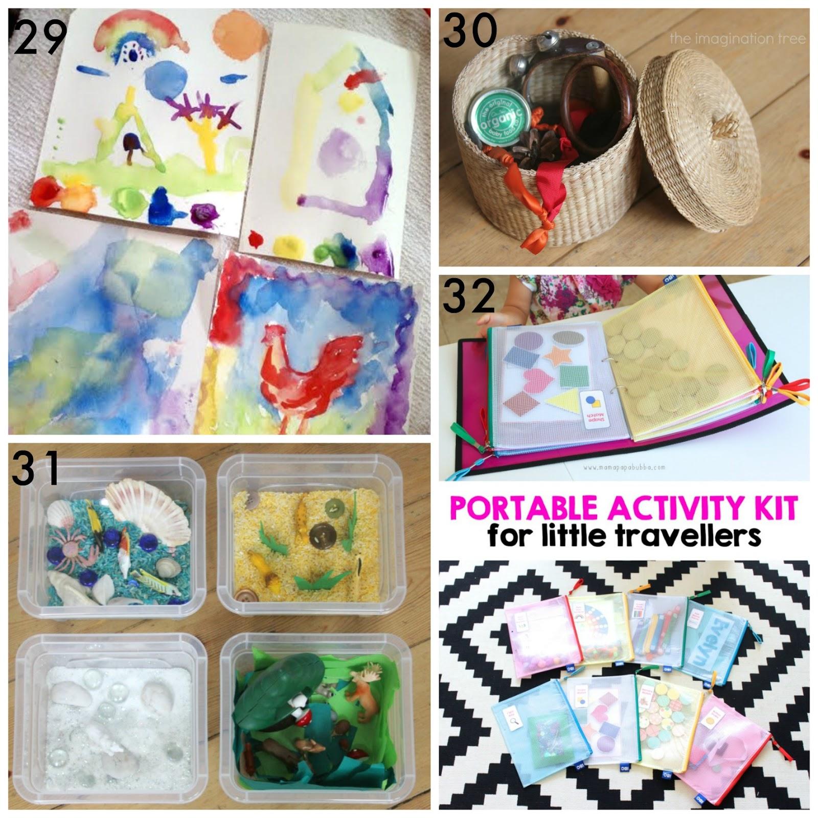 30+ DIY Portable Travel Kits for Entertaining Kids on the go!