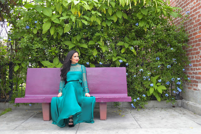 Joanna Joy vintage emerald green lace dress pantone color of the year 2013 pantone color of the year greenery 2017 refresh renew regenerate revitalize growth green floral flowers spring long emerald green dress a stylish love story blog fashion blogger california fashion blogger petite fashion blogger