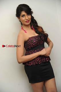 Kannada Actress Iti Acharya Stills in Strapless Dress at Dhwani Movie Press Meet  0002.jpg
