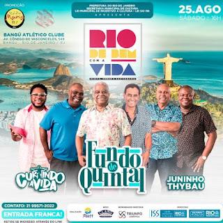 Projeto Rio DE BEM COM A VIDA recebe show do grupo Fundo de Quintal