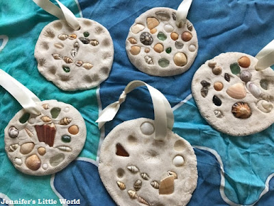 Salt dough shell mosaic craft