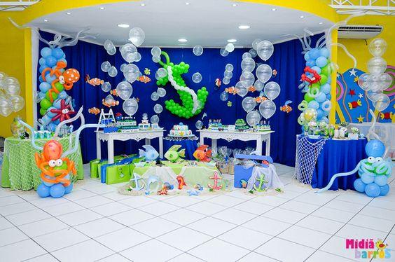 Imagenes fantasia y color ideas para fiesta tematica del mar - Decoracion fiestas infantiles para ninos ...