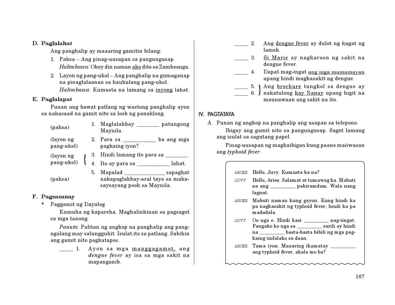 Worksheet Sa Kaukulan Ng Panghalip   Printable Worksheets and Activities  for Teachers [ 1159 x 1500 Pixel ]