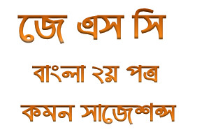 JSC Bangla 2nd Paper Suggestion of JSC Examination 2016  Model Question