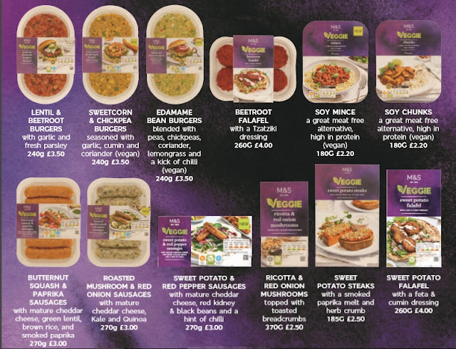 new vegetarian and vegan range from M&S including veggie mince, burgers, sausages and falafel